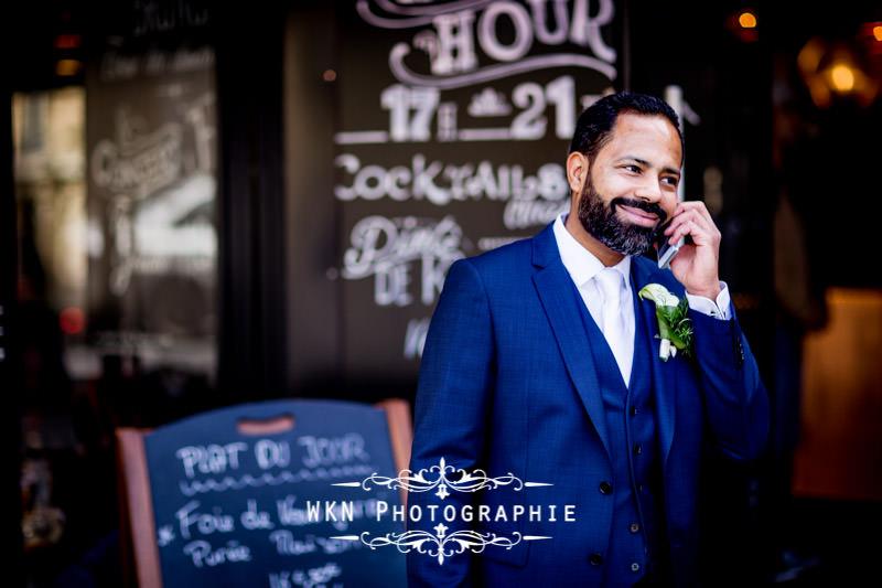 Photographe de mariage à la mairie du 18ème de Paris