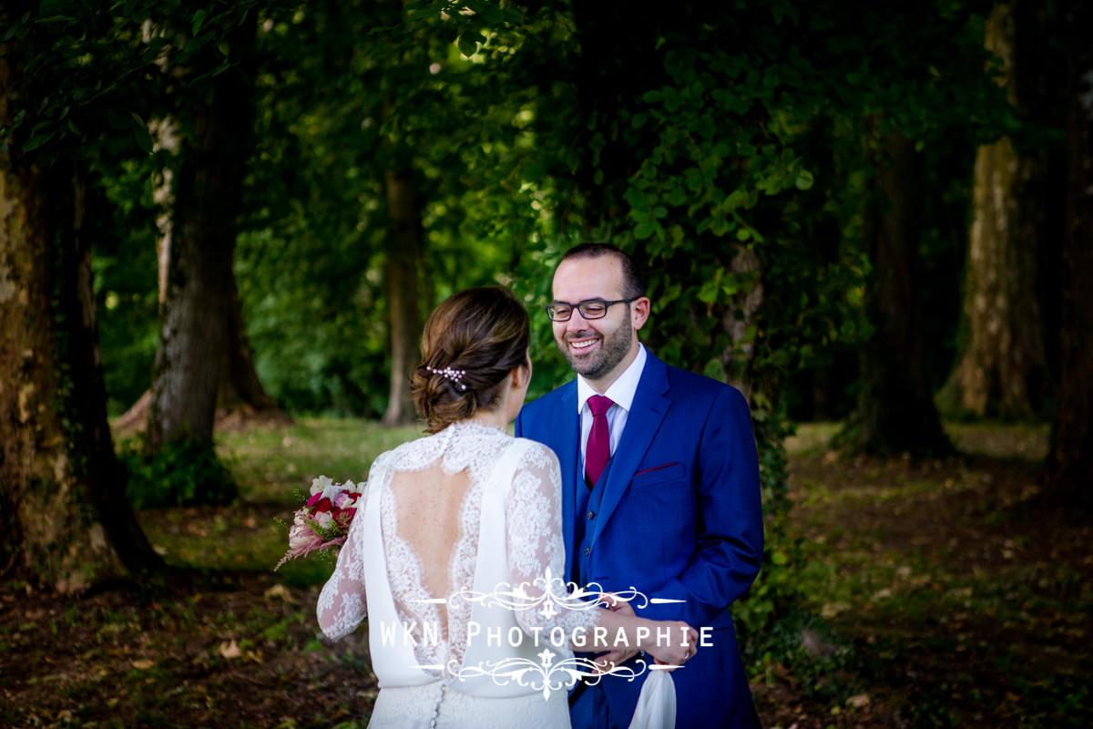 Photographe de mariage bourgogne - premier regard au chateau de Saulon
