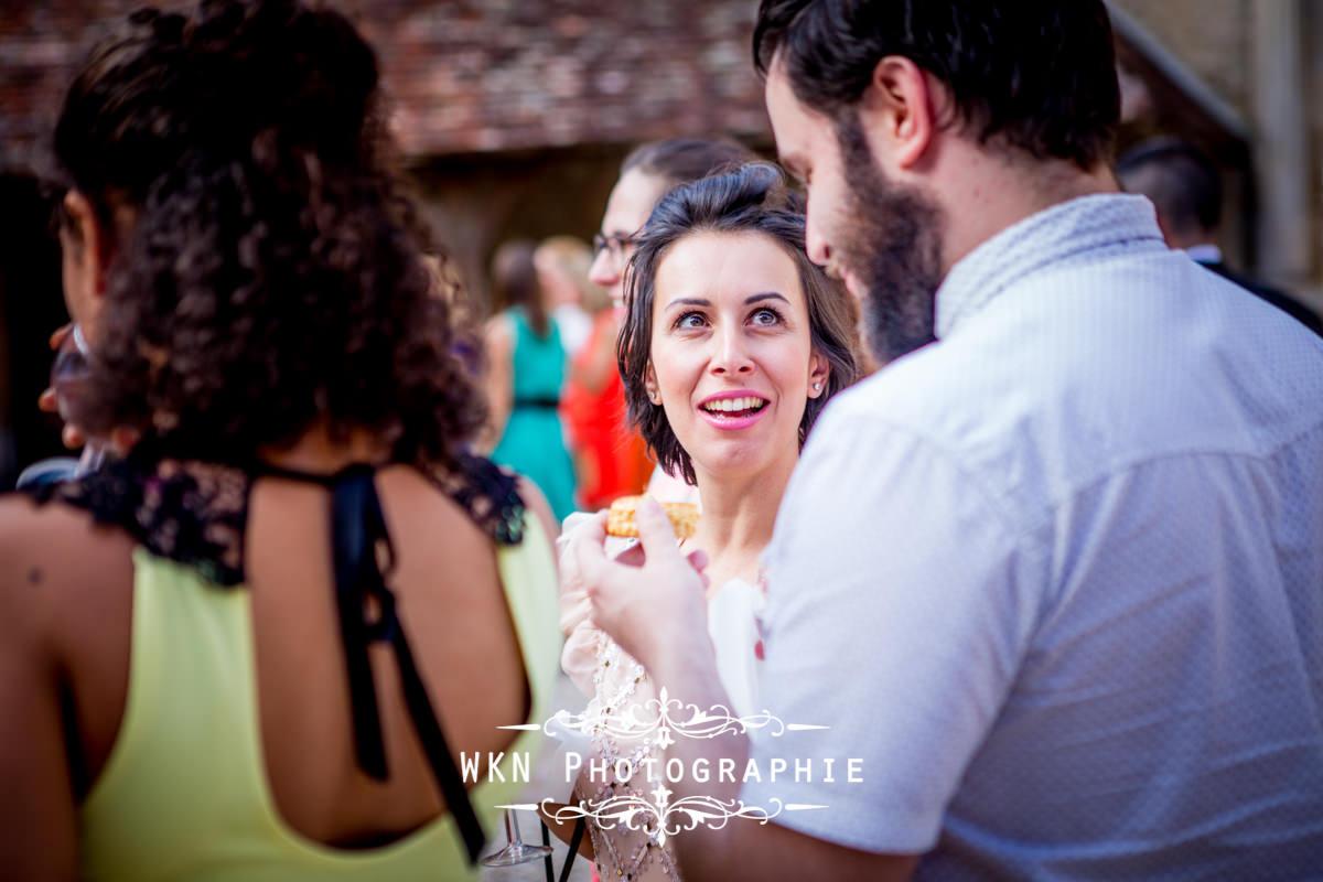 Photographe de mariage bourgogne - vin d'honneur au Clos de Vougeot