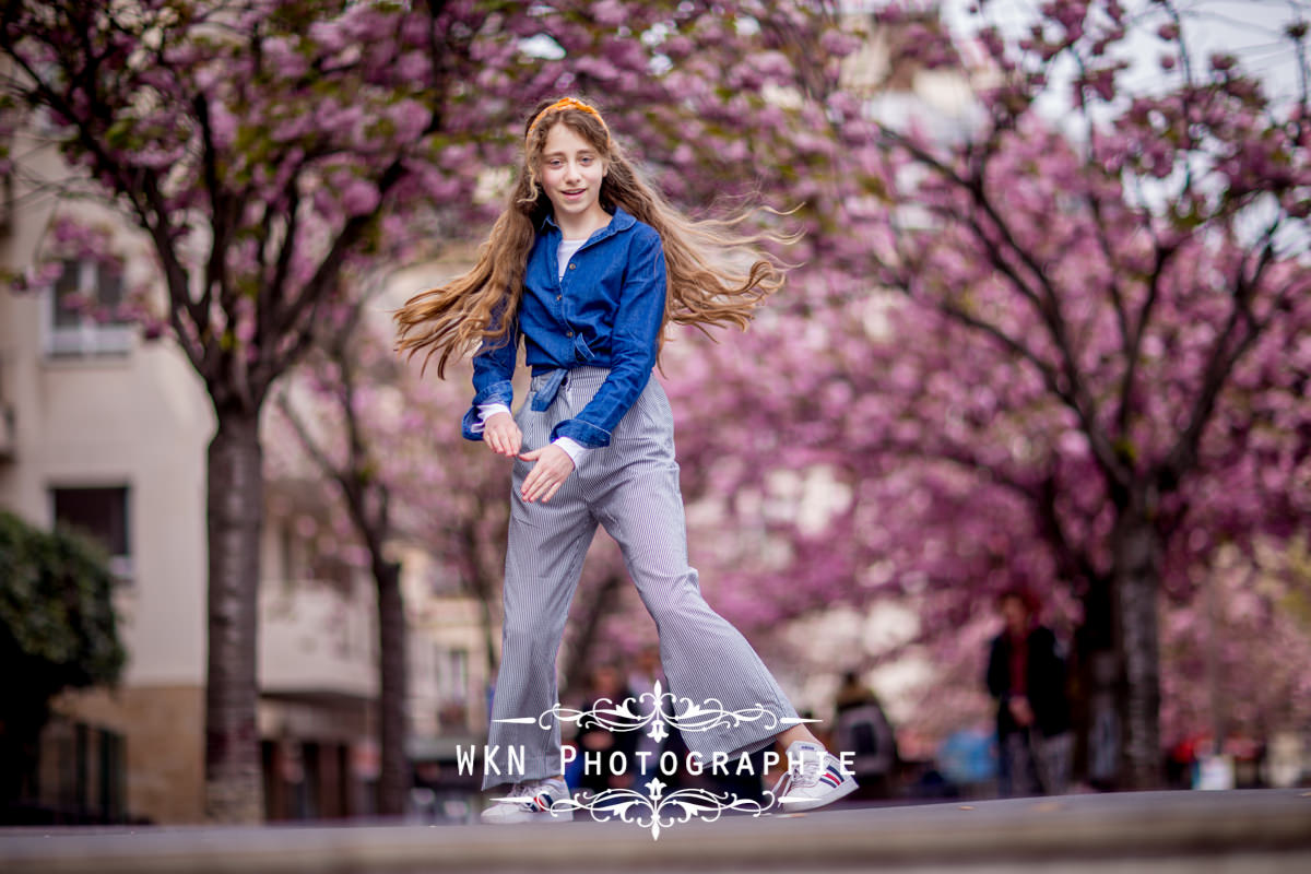 Photographe Ados Paris - seance photo printemps en plein air