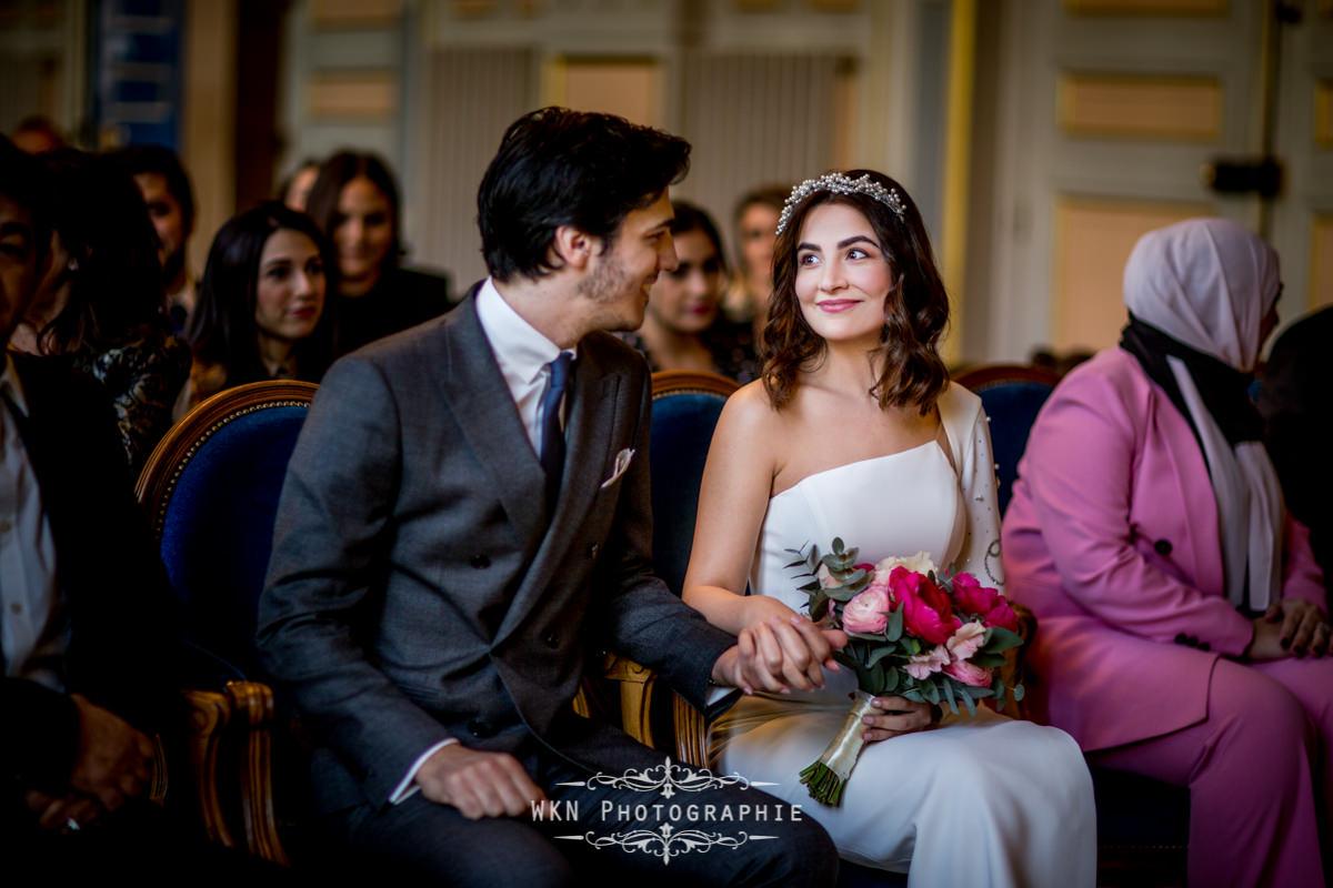 Photographe de mariage é la mairie du 16ème Paris